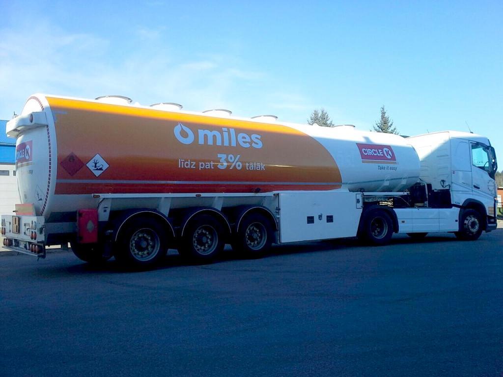Circle K degvielas vedēju noformējums