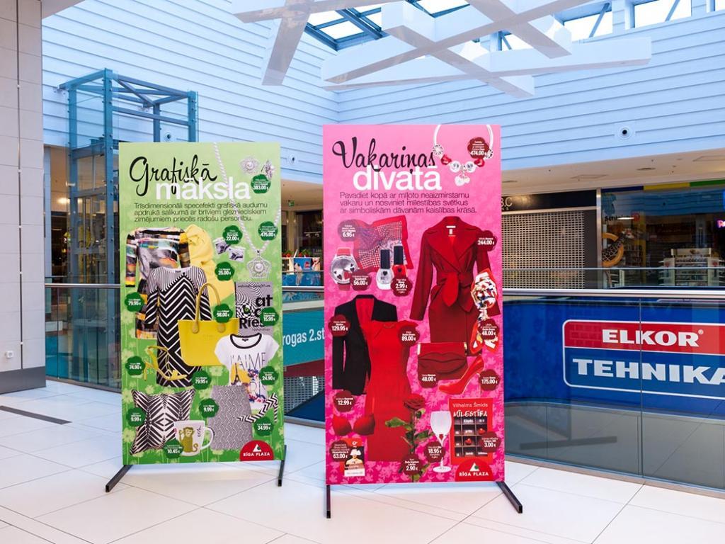 Riga Plaza reklāmas kampaņas materiāli