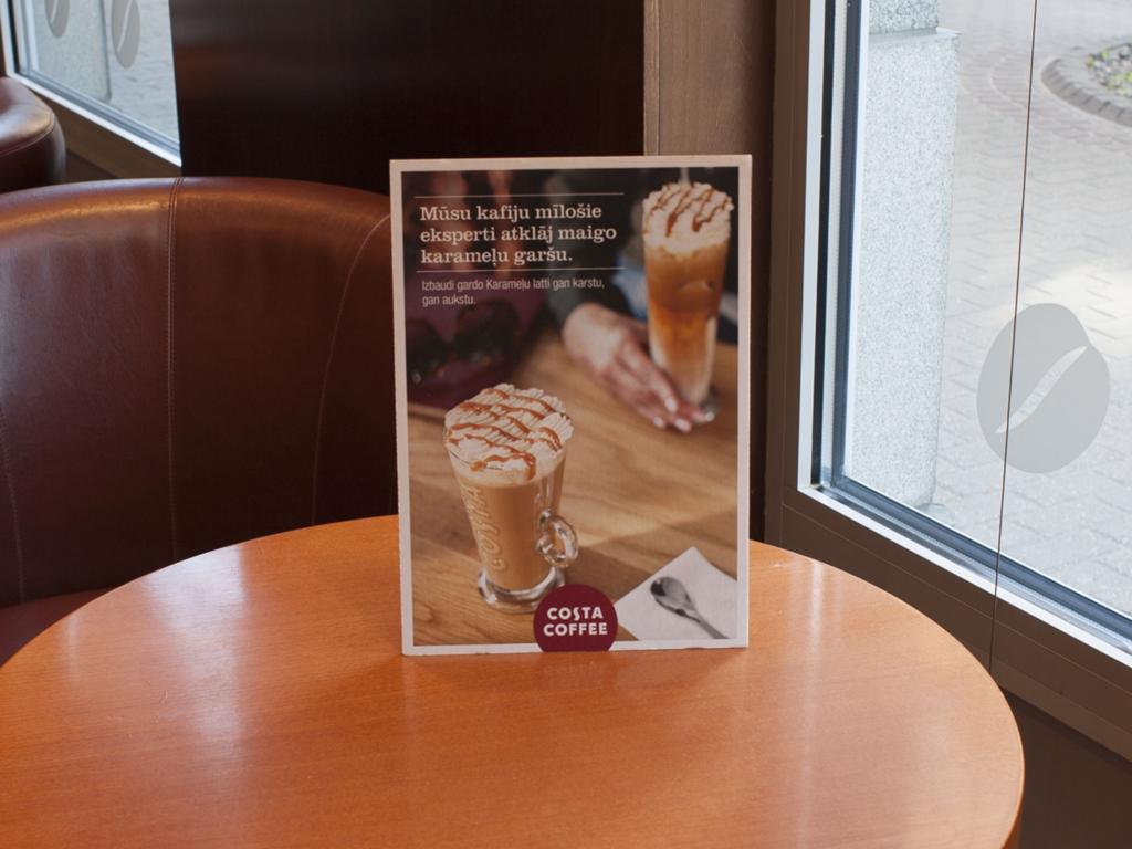Costa Coffee reklāmas materiālu izgatavošana