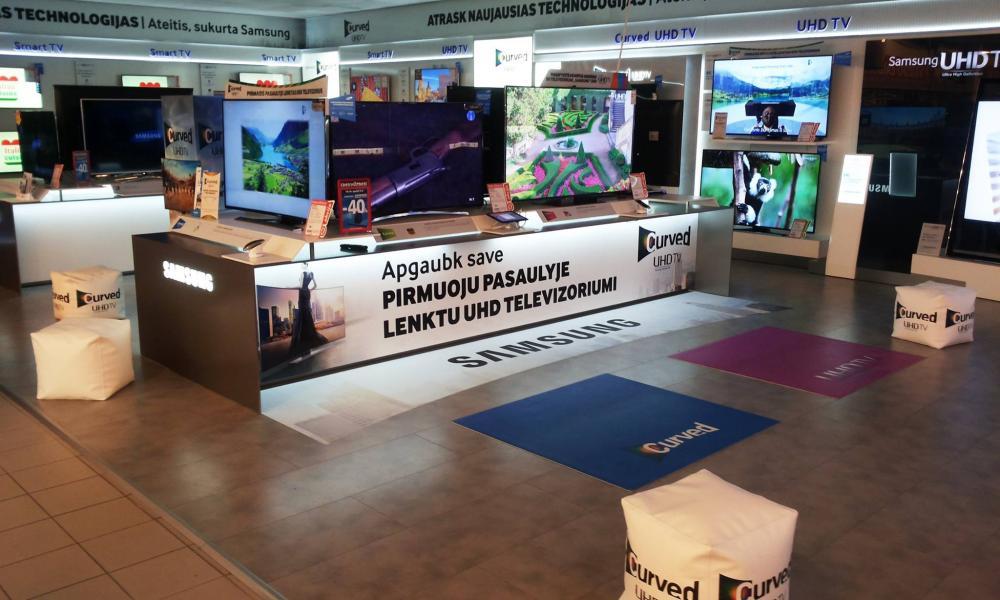 Samsung tirdzniecības zonas pilns noformējums