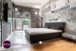 Guļamistabas interjers
