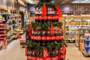 Coca-Cola Ziemassvētku stends